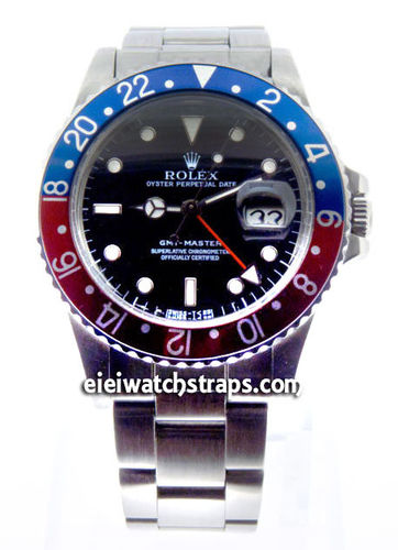 Rolex GMT-Master II Stainless Steel Black Dial Blue and Red 24hr Bezel