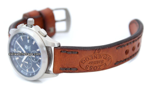 Zoss Hand Made Vintage style Ammo Leather watch strap For TAG Heuer Link Watches