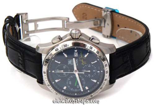 Black Crocodile Watch Strap Butterfly Deployant Clasp TAG Heuer Link Watches