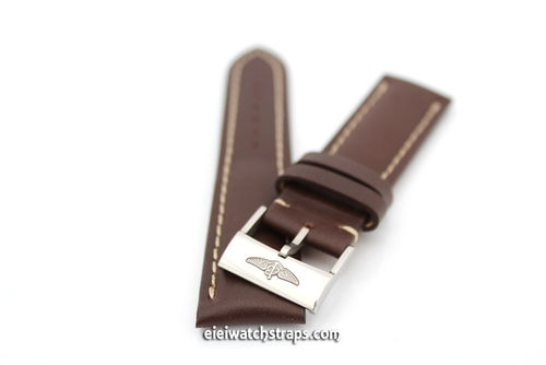 Genuine Brand New Breitling Brown Calf Leather Strap with Tang Buckle