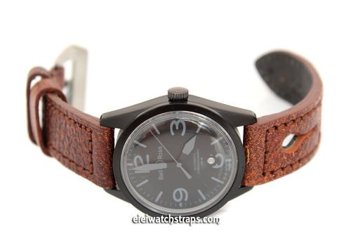 22mm Thick Leather watch strap For Bell & Ross