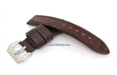 Handmade Black Alligator Watch Strap