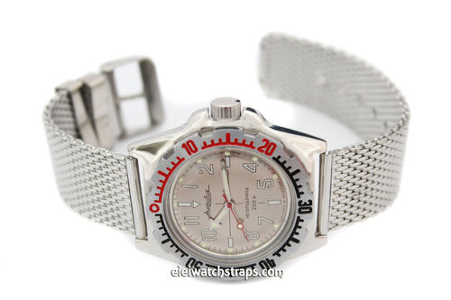 Stainless Steel Watch Mesh Bracelet For Vostok Watches