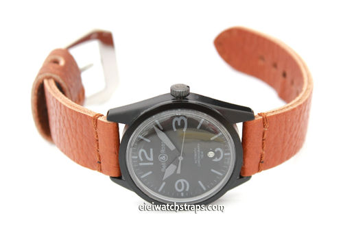Metta Oiled Light Brown Leather Watch Strap for Bell & Ross