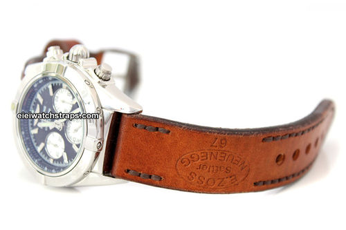 Zoss Hand Made Vintage style Ammo Leather Watch Strap For BREITLING Chronomat