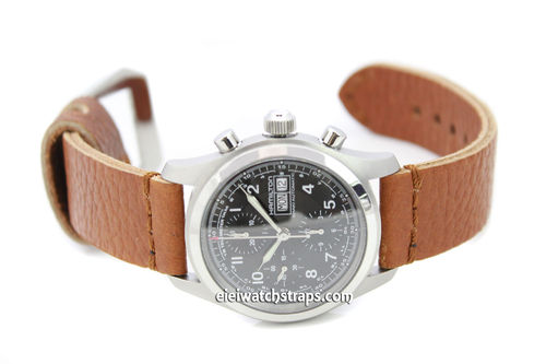 Metta Oiled Tan Leather Watch Strap For TAG Heuer Formula 1