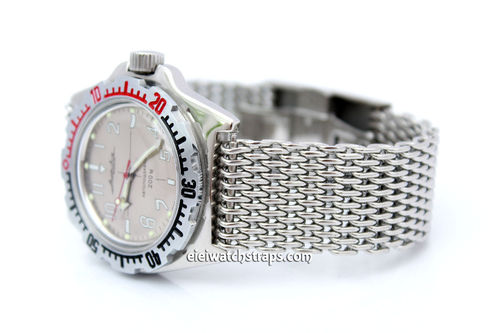 Stainless Steel Thick Milanese Mesh Watch Strap. Higher quality For Vostok Watches