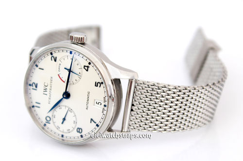 Stainless Steel Watch Mesh Bracelet For IWC Portugieser