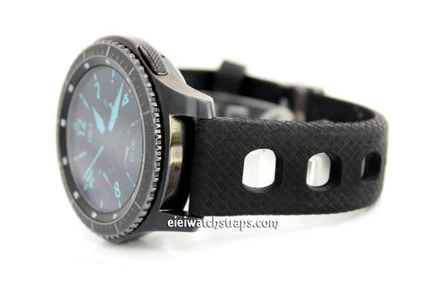 22mm 'Grand Prix' Textured Silicon Rubber Watch Strap For samsung S3 Watch