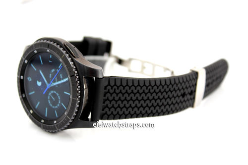 Tyre Tread Rubber Watch Strap For Samsung S3 Watch