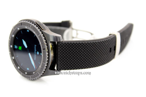 22mm Silicon Rubber Watchstrap Distinctive textured top surface For Samsung S3 Watch