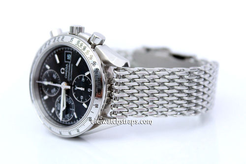 Stainless Steel Thick Milanese Mesh Watch Strap. Higher quality For Omega Speedmaster