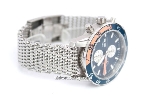 Stainless Steel Thick Milanese Mesh Watch Strap. Higher quality For IWC Aquatimer