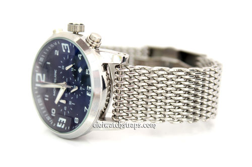Stainless Steel Thick Milanese Mesh Watch Strap. Higher quality For Montblanc Watches