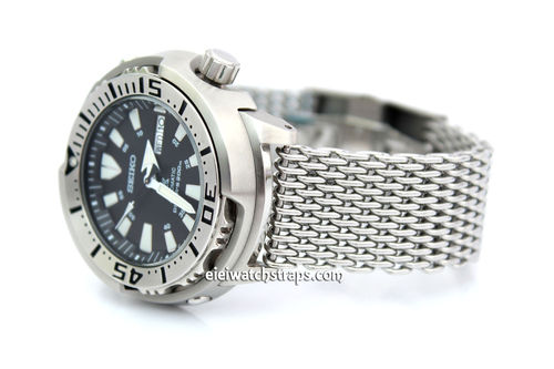Stainless Steel Thick Milanese Mesh Watch Strap. Higher quality For Seiko Watches