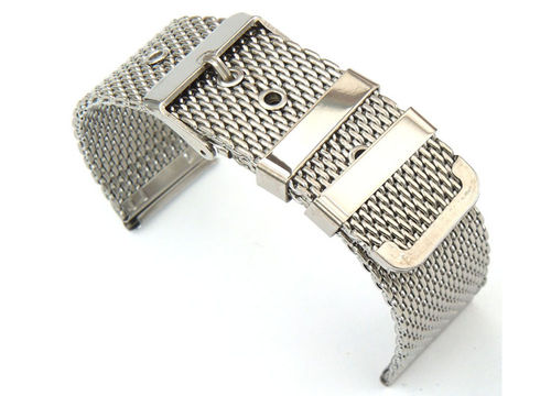 Stainless Steel Watch Mesh Bracelet Pin Buckle For Steinhart Watches