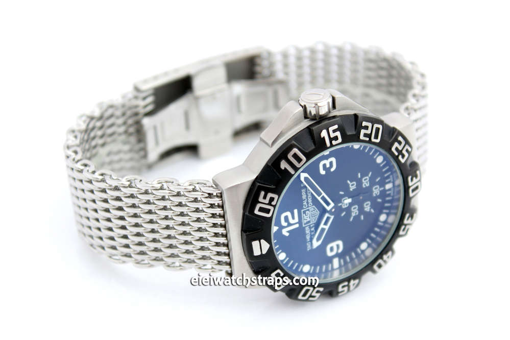 Stainless Steel Thick Milanese Mesh Watch Strap Higher Quality For Tag Heuer F1
