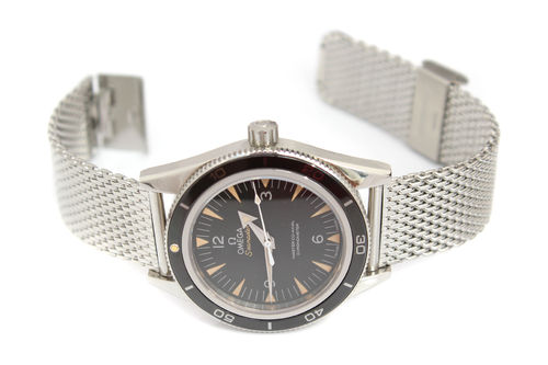 Stainless Steel Watch Mesh Bracelet For Omega Seamaster Watches
