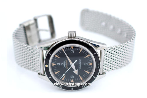 Stainless Steel Watch Mesh Bracelet For Omega Seamaster Watch
