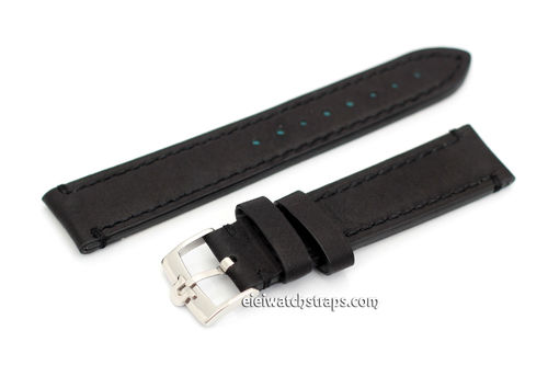 LIBERTY Hand Made Leather Watch Strap on Vintage Type Genuine Omega Tang Buckle