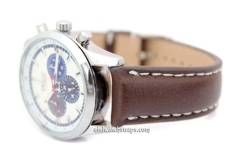 Padded Brown Leather Watch Strap For Zenith Watches