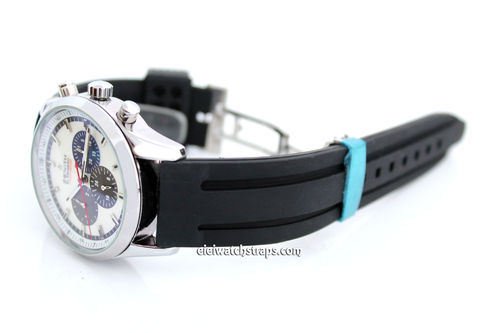 22mm 'Monaco' Silicon Rubber Divers Watch Strap For Zenith Watches
