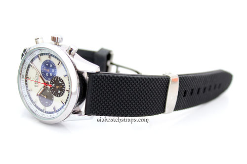 22mm Textured Silicon Rubber Watch Strap Distinctive textured top surface Zenith Watches