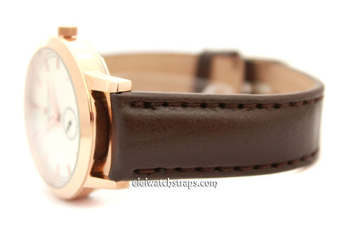 Classic Brown Leather Grain Leather Watch Strap