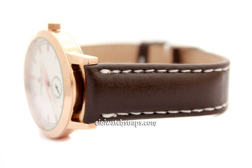 Classic Brown 20mm Leather Grain Leather Watch Strap