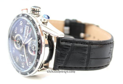 Black crocodile Watch Strap For Tag Heuer Carrera