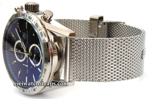 Stainless Steel Watch Mesh Bracelet For TAG Heuer Carrera
