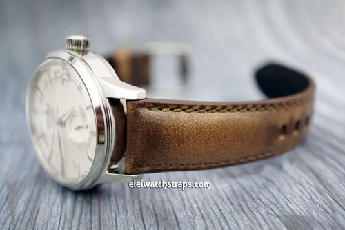 Seiko Cocktail Handmade Padded Chromexcel Horween Leather Watch Strap