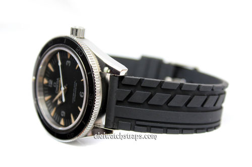Tyre Tread Rubber Watch Strap For Omega SeaMaster