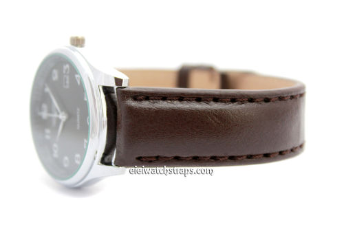 Brown Leather Watch Strap For For Longines Watches