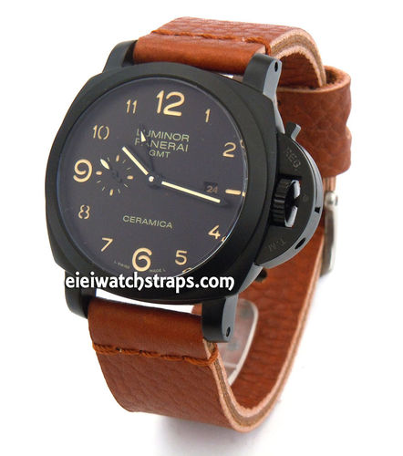 Metta Oiled TAN Leather Watch Strap For Panerai Watches