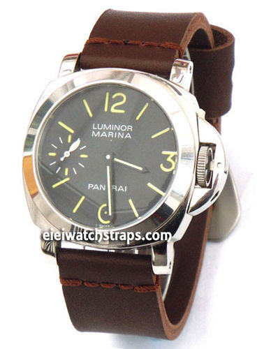 Metta Oiled Brown Leather Watch Strap For Panerai Watches