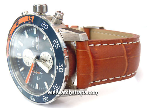 IWC Aquatimer Matt Brown Alligator Grain Padded Leather Watch Strap