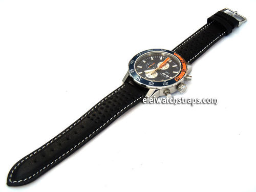 IWC Aquatimer on Rally Perforated Leather Watch Strap