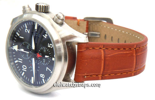 IWC Pilot Watch on Crocodile Grain Leather Watch Strap
