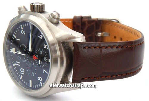 IWC Pilot Watch Crocodile Oval Grain Leather Watch Strap
