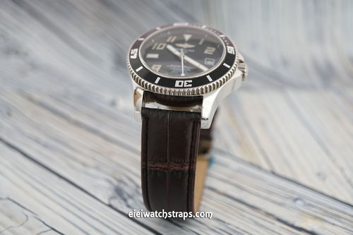 Breitling Superocean Dark Brown Crocodile Watch Strap