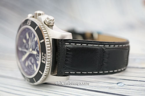 Breitling Superocean Black Crocodile Watch Strap