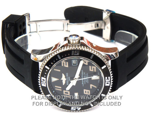 Breitling Superocean Silicon Rubber Watch Strap Deployment Clasp