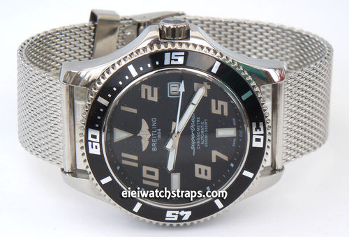 Breitling Superocean Stainless Steel Bracelet Mesh Watch Strap