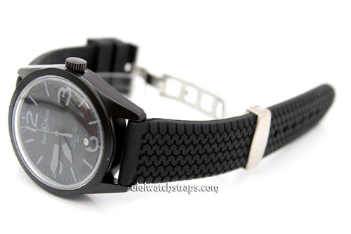 Bell & Ross HD Tyre Tread Rubber Watch Strap Deployment Clasp