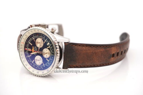 Breitling Navitimer Vintage Brown Horween Leather Watch Strap