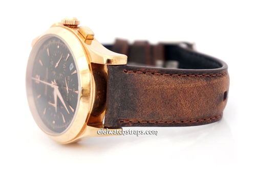 Jaeger-LeCoultre Handmade Vintage Brown Horween Leather Watch Strap