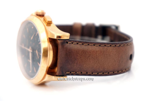 Jaeger-LeCoultre Handmade Rustic Brown Horween Leather Watch Strap