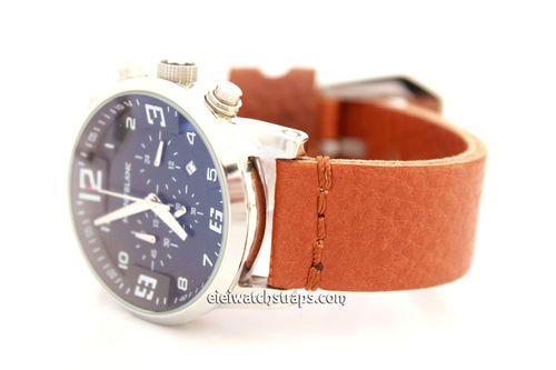 Montblanc Handmade Metta Oiled Tan Leather Watch Strap