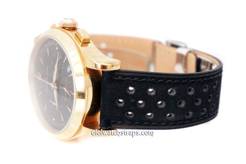 Jaeger-LeCoultre Rally Perforated Black Leather Strap